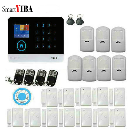 SmartYIBA WIFI Smart Home Burglar Alarm System DIY Kit GSM Alarm with IOS Android APP Control with Wireless Siren German Polish smartyiba wireless gsm wifi home security burglar alarm system kit android ios app remote control french polish russian spanish