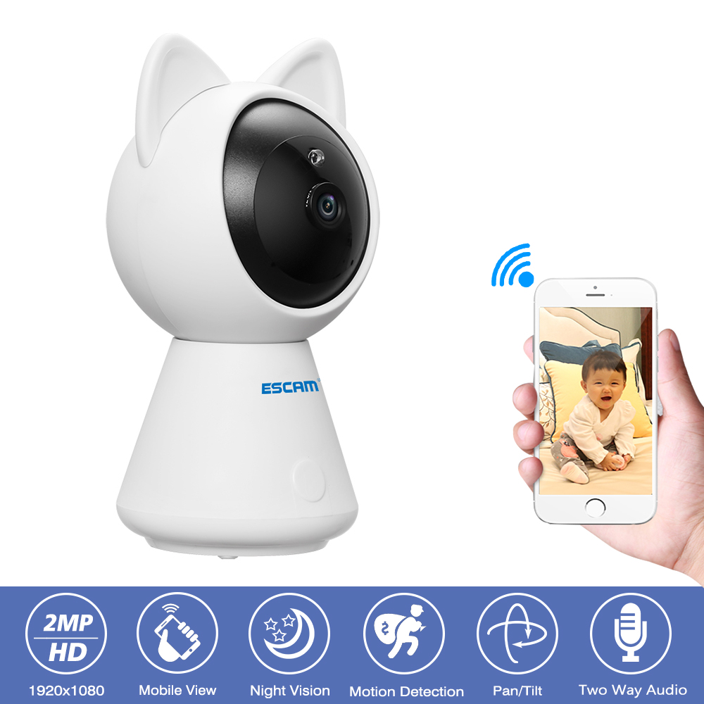 Escam QF509 CCTV Security Wifi Camera 2MP 1080P Wireless IP Camera Onvif Indoor font b Night