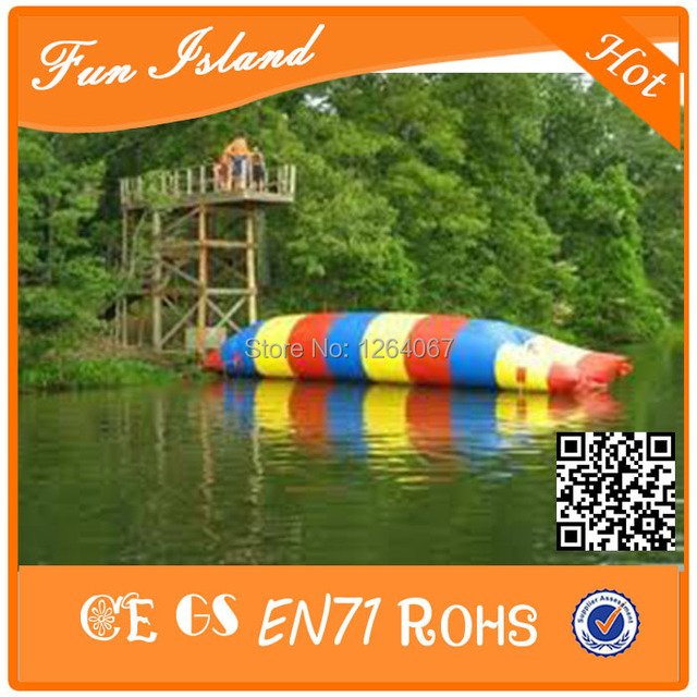 Бесплатная Доставка 7x3 м Пользовательские blob надувные водные катапульты капля, надувные водные катапульты капля на продажу
