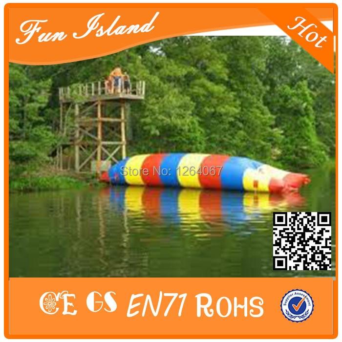 Free Shipping 7x3m Custom blob inflatable water catapult blob,inflatable water catapult blob for sale blob blob big yellow