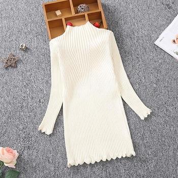 New 2020 Autumn Winter Girls Knitted Dress Children Clothes Slim Princess Girls Sweater Dress 2-13Y RT275 1