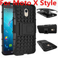 New For Motorola Moto X Style X3 Phone Case 2in1 Kickstand Heavy Duty Armor Shockproof Hybrid Silicone XT1572 XT1570 Cover Case