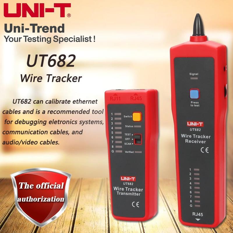 Traqueur de fil de UNI-T UT682, trouveur Intelligent multifonctionnel, suit des lignes de réseau, des lignes téléphoniques, des câbles d'alimentation, et des lignes coaxiales