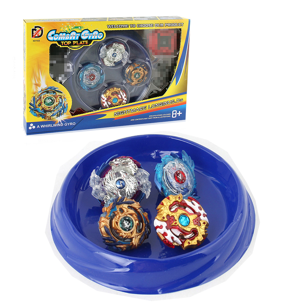 4Pcs/Lot Beyblade Burst Beybleyd Toys for Chidlren with Two Ways Launcher Handle Battel Plate Fighting Game for Kids