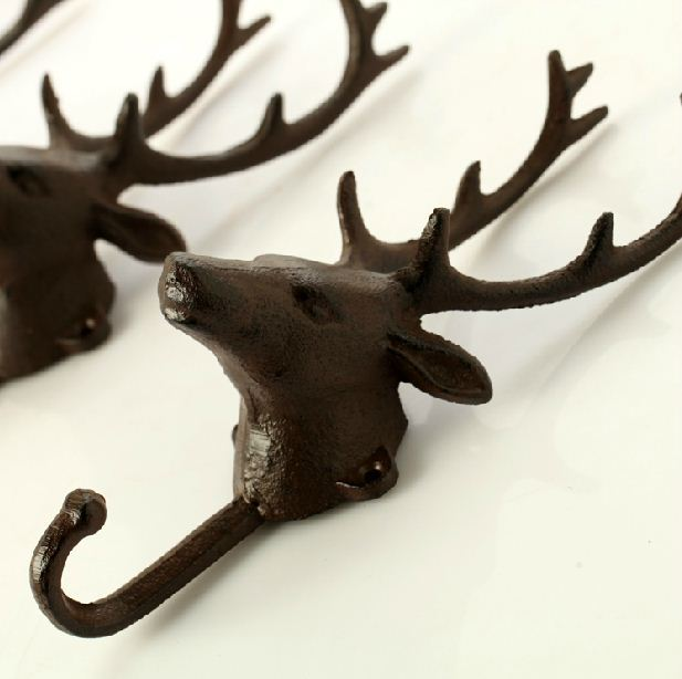 1pcs Deer Fashion Vintage Wall Decoration Coat Hooks Animal Head Cast Iron In Robe From Home Improvement On Aliexpress Alibaba Group