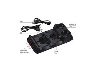 Image 2 - 4 trong 1 Dock Sạc Bộ Điều Khiển Trò Chơi Đế Sạc Cho PS4/PlayStation 4/PS Di Chuyển