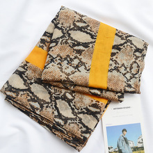 women fashion designer scarf luxury brand snake print scarf female autumn spring Snood Muslim Sjaal Head Wrap