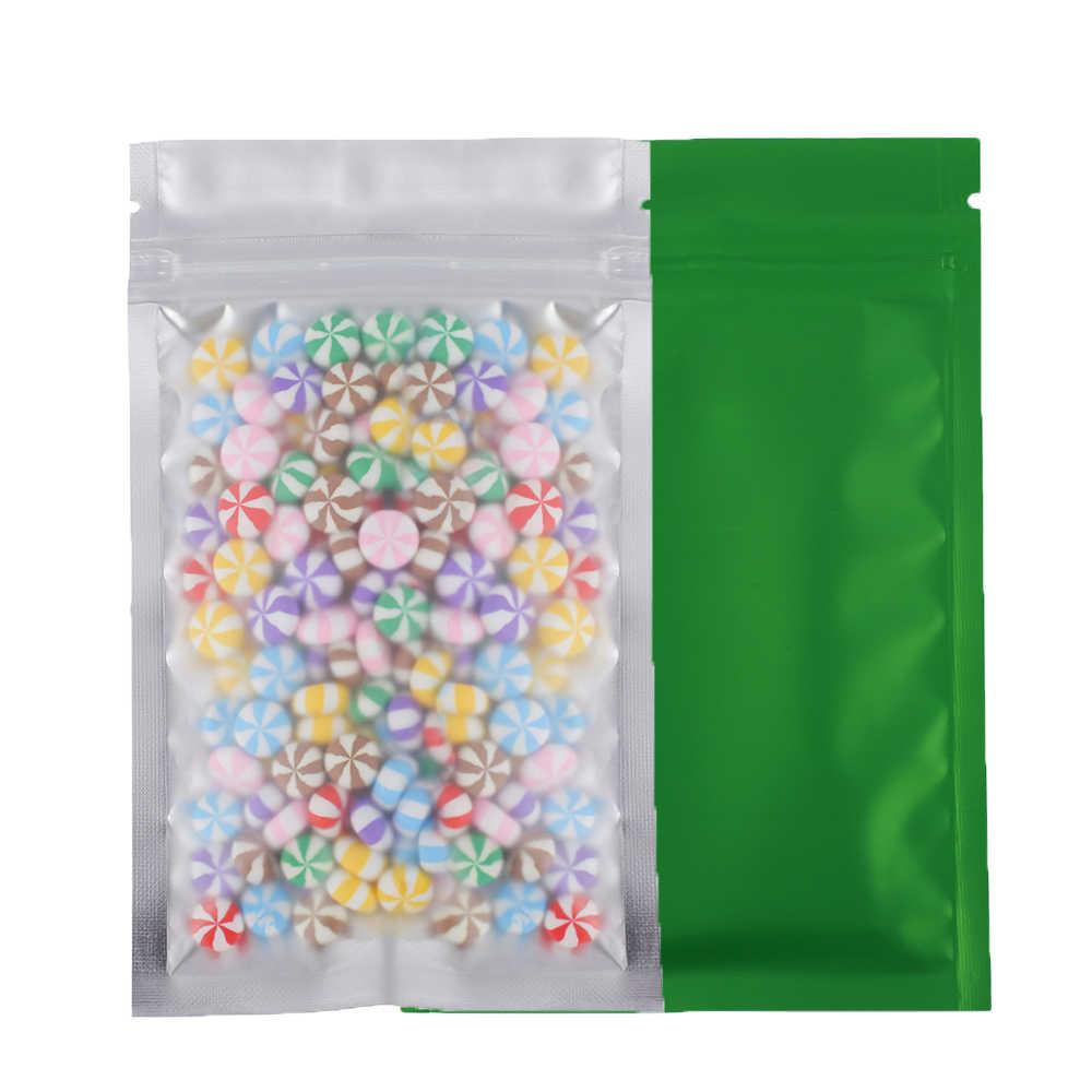 4x6 дюймов 100 шт пластиковые пакеты прозрачные плоские мешки Зеленый Замок Розничная упаковка мешков для хранения с Сумка для еды на молнии