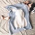Детское Одеяло Розовый Белый Милый Кролик Серый Для Диван-Кровать шерстяное одеяло Cobertores Мантас Покрывало Банные Полотенца Игровой Коврик Подарок 73*105