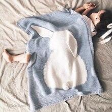 Bébé Couverture Rose Blanc Mignon Lapin Gris Pour Lit Canapé laine couverture Cobertores Mantas Couvre-lit Serviettes De Bain Tapis de Jeu Cadeau 73*105