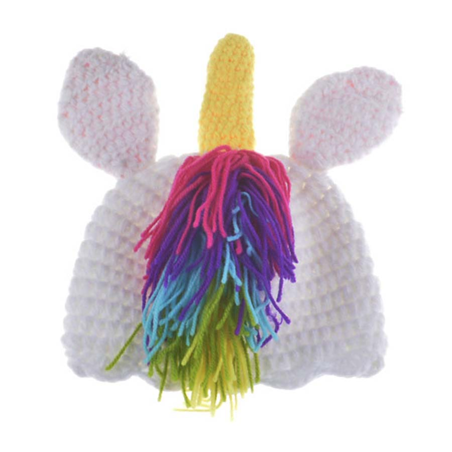 37b92a0bce9 ... Crochet Unicorn Costume Outfit Newborn Rainbow Unicorn Photography Prop  Baby Hat and Diapre Cover Set Infant ...
