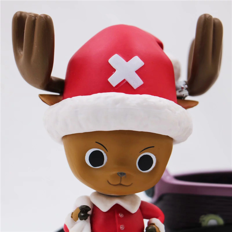 New Christmas One Piece Chopper Action Figure Toys Kawaii Anime Xmas Sled Chopper Figuras Dolls Brinquedos Gift 10cm  (5)