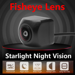 Waterproof HD 170 Degree Sony/MCCD Fisheye Lens Starlight Night Vision Car Reverse Backup Rear View Camera CCTV Parking Camera