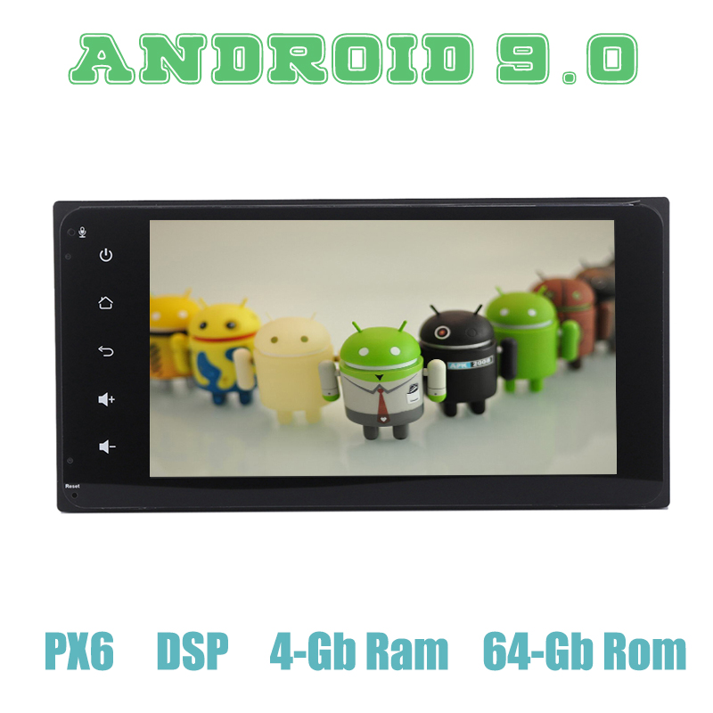 PX6 Android 9 0 Car GPS Radio Multimedia for Toyota universal rav4 corolla hilux prado Terios