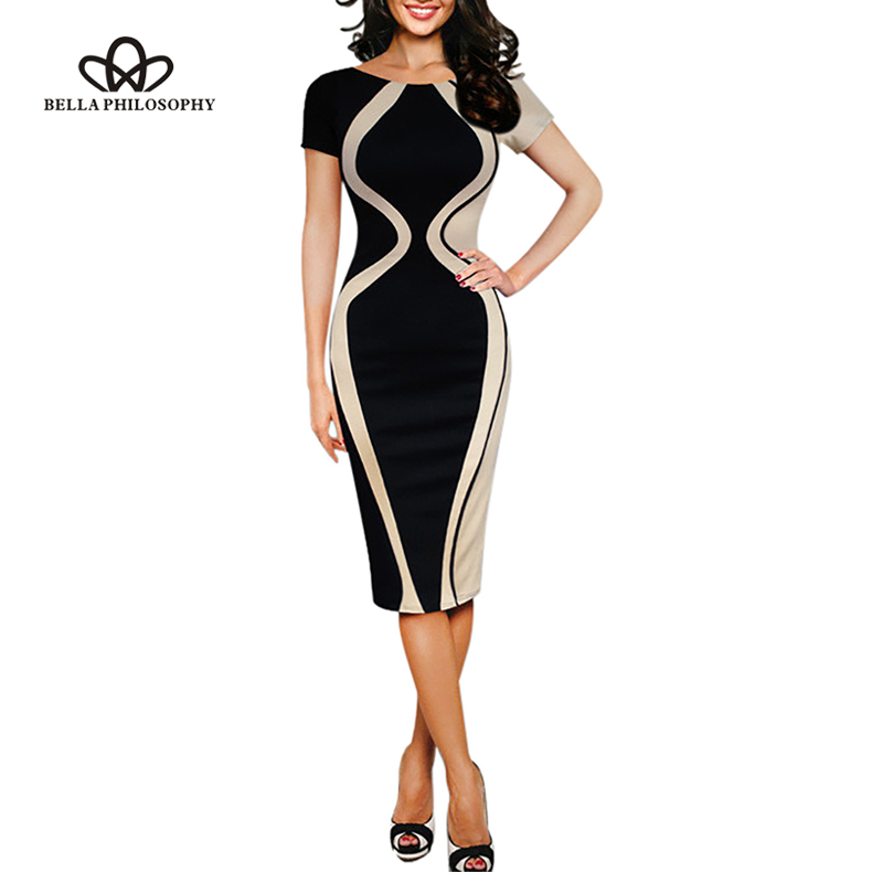 Bella Philosophy 2019  women summer elastic stretchy short sleeve bodycon pencil dress|pencil dress|bodycon pencil dresswomen summer - AliExpress
