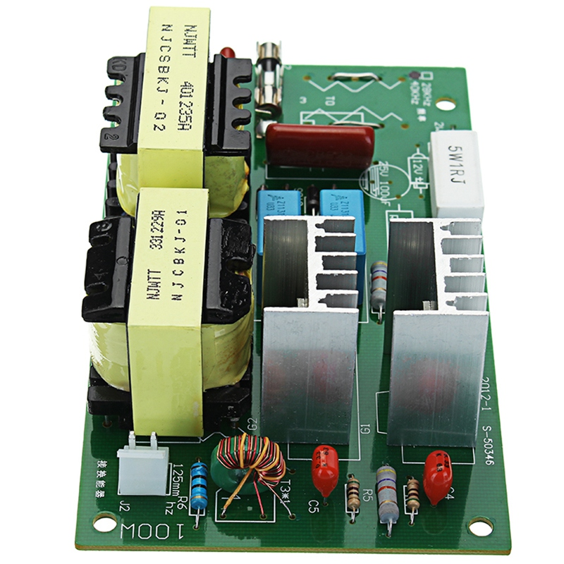 Ac 220v 60 w-100 w Ультразвуковой очиститель питания драйвер частоты тестер доска с 2 шт 50w 40khz преобразователей