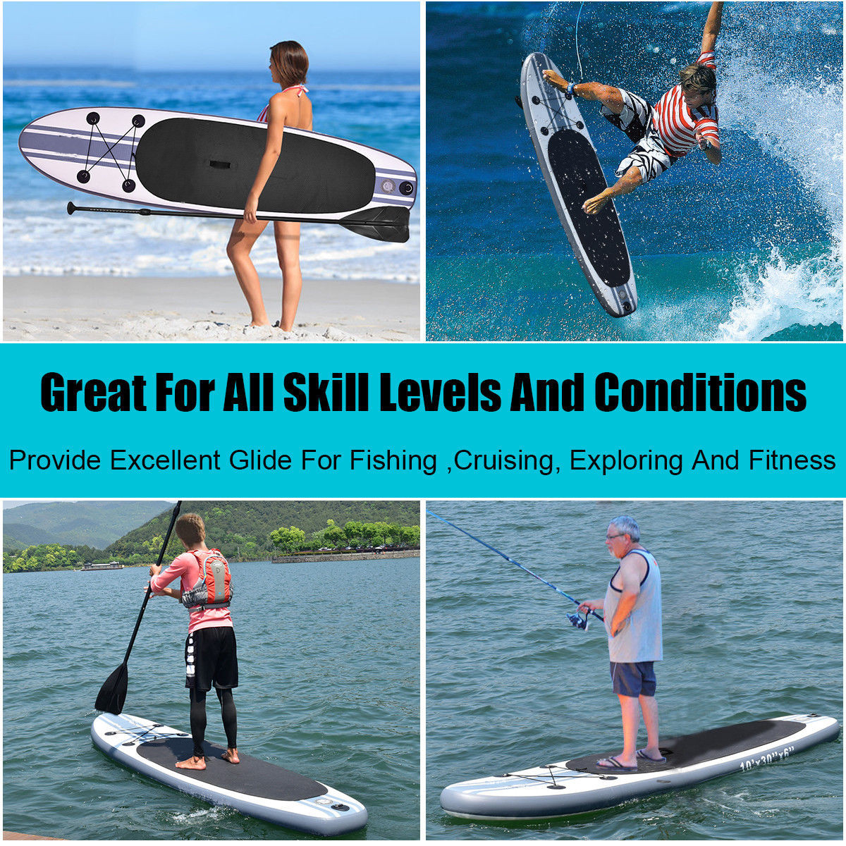 320x78x15cm Inflatable Stand Up Surfboard Surfing Board Water Sport Sup Board With Paddle Pump Foot Safety Rope Tool Kit Professional Design Water Sports Surfing