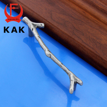 KAK Creative Black Silver Tree Branch Handles 96mm 128mm Kitchen Cabinet Drawer Door Handles Pulls Knobs  Furniture Hardware