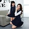 Vestido de la manera vestidos a juego de la Familia de Madre e hija ropa Mamá Niños Chica Family look de Manga Larga Vestidos de traje AA2126