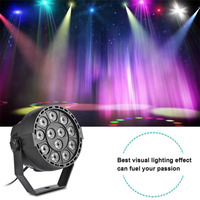 12 LEDs RGBW Color Mixing Bar Party Par Lamp 8CH Voice Activated Stage Light Projector Light