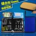 Medical students practice surgical suturing instrument package, suture kit with silicone skin model