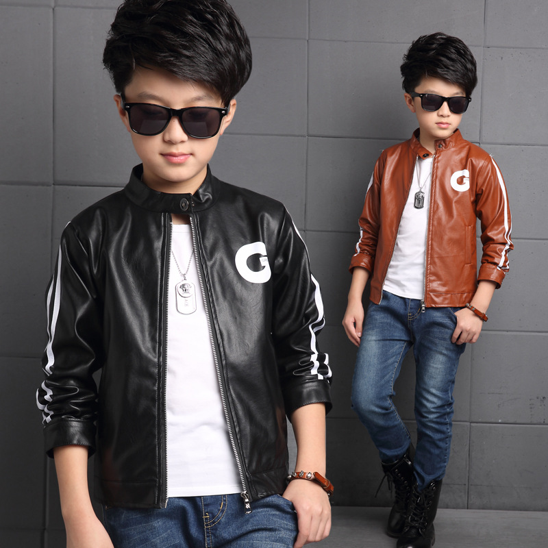 Popular Boys Brown Leather Jacket-Buy Cheap Boys Brown Leather