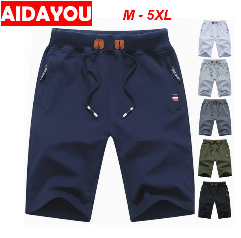 Mens Short Pants Beach Casual Shorts Stretchy Waist Plus Size M-5XL Cotton And Spandex Cargo Jersey Shorts Ouc408
