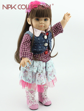 Muñeca reborn de 45 cm con diadema rosa