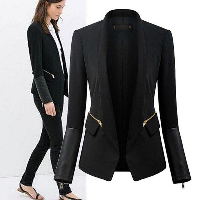 46f5e496d42d Nanafast 2016 New Style Black Long Sleeved Slim Women Blazers And ...