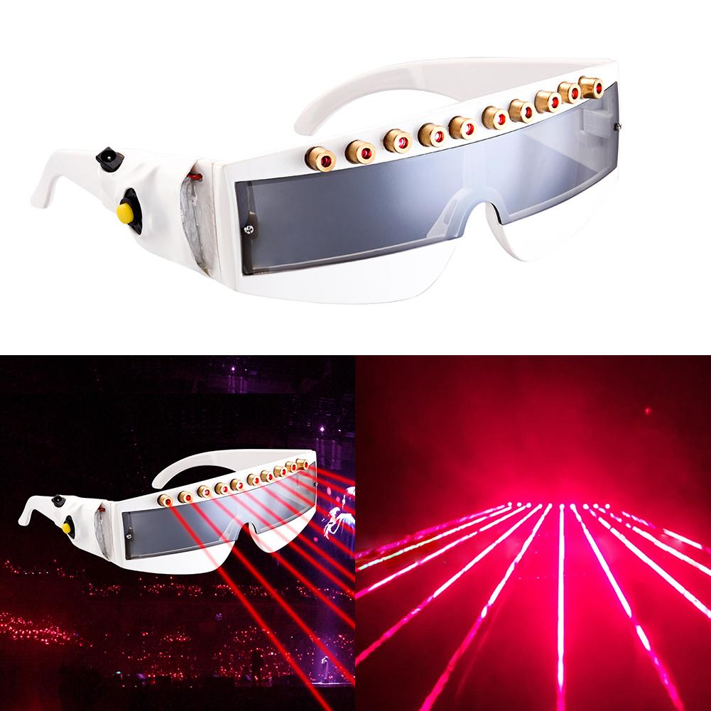 DIY Glasses Multi Beams Stage Laser Glasses Grand Event Decorations LED Red Light Dancing Stage Show DJ Club Party