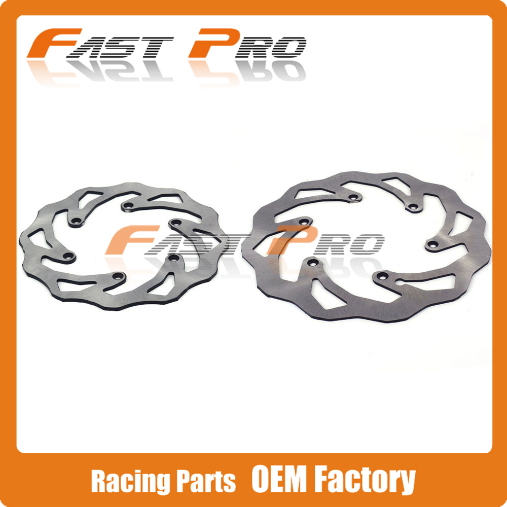 цена на Front Rear Wavy Brake Disc Rotor Set For KTM EXC EXCF SX SXS SXF XC XCW XCF XCFW MX MXC EGS SMR SXC LC4 SC Six Days