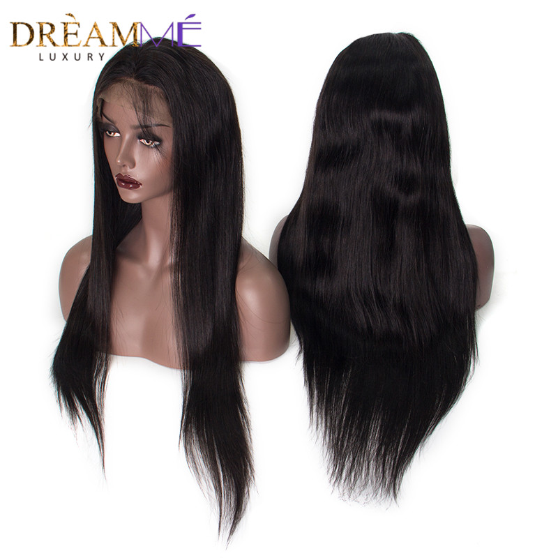 Brazilian Straight Lace Front Human Hair Wigs For Black Women Remy Hair 13x4 Lace 130 Density