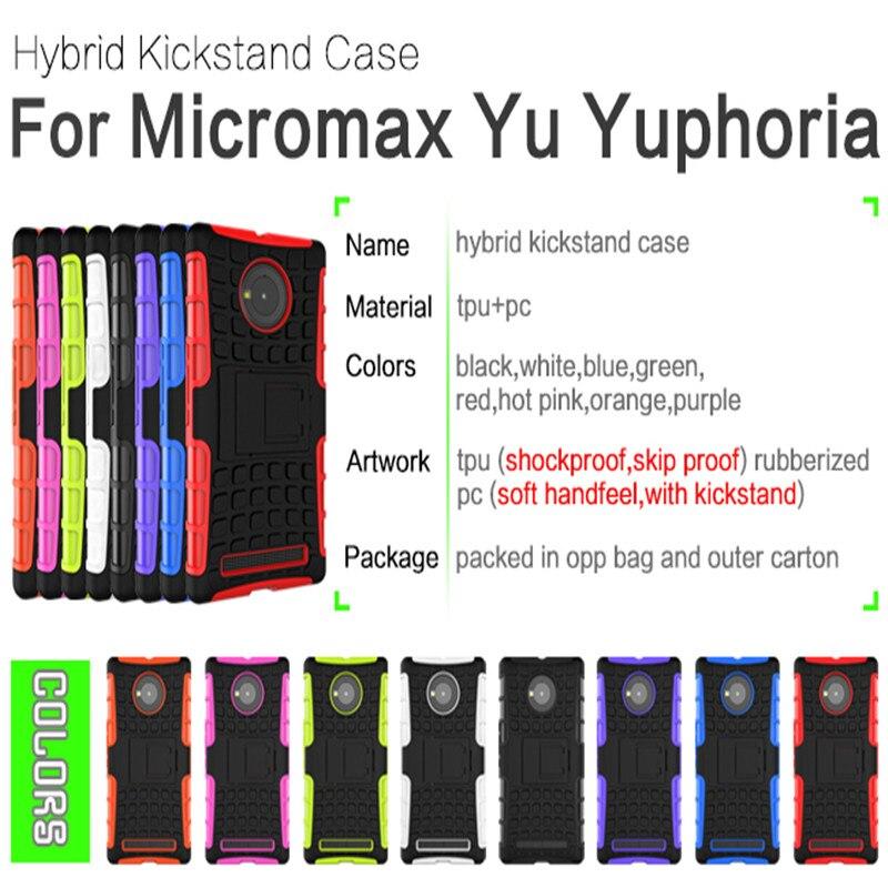 Micromax Yu Yuphoria Case High Quality with holder Protective TPU+Hard Case for Micromax Yu Yuphoria Smartphone