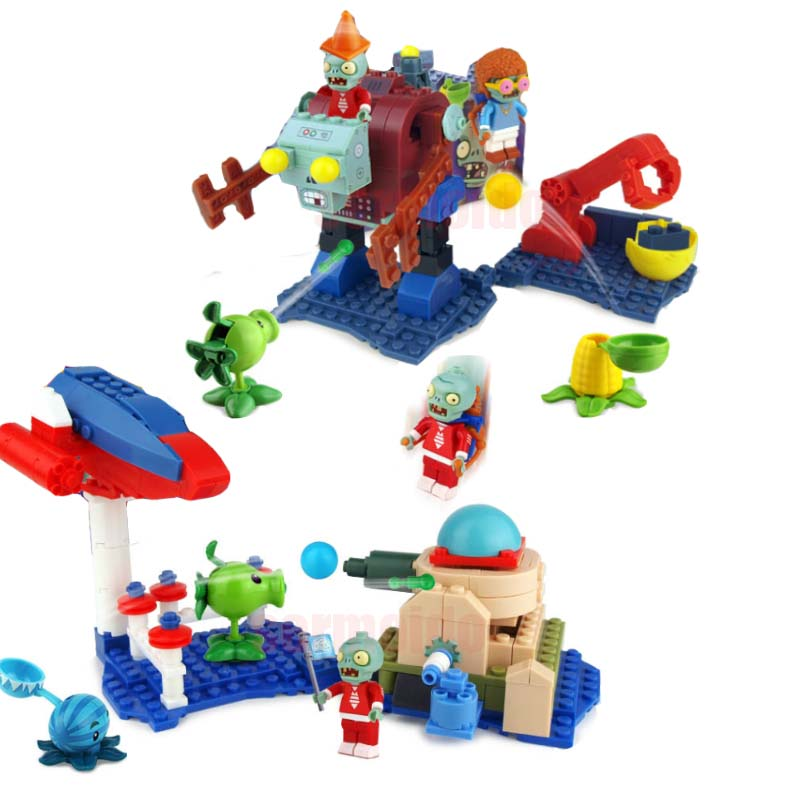 Plants vs Zombies Garden Maze Struck Game Legoings Building Bricks Blocks Set Anime Figures My World Toys For Children Gifts plants vs zombie future world pirates mini scene edition model building blocks bricks toys for chidren my world gift brinquedos