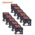 Absonic 10 шт. принтер ленты 12 мм DYMO D1 45017 черный на красном Ленты Совместимость для Dymo LabelManager PnP 220 P 360D 450D машины для ярлыков