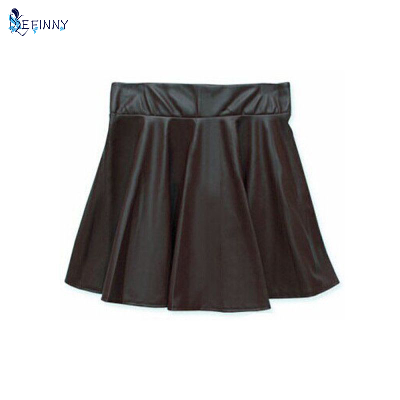 Aliexpress.com : Buy NewLady Girls Faux Leather Skirt High Waist ...