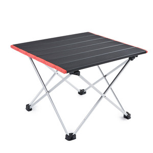 Image 5 - Ultra Light Aluminum Alloy Tables Spot Outdoor Camping Table Portable Foldable Tables Camping Self driving Table