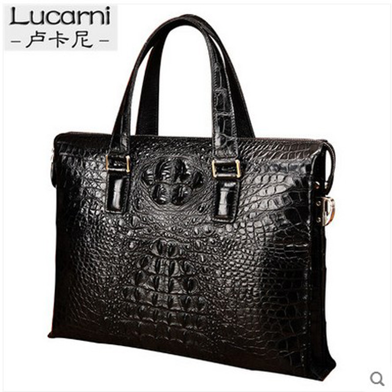 lukani   crocodile men handbag single shoulder bag vintage leather man bag business casual bag fashion briefcase yongliang 2017 new crocodile leather belly single shoulder men handbag crocodile leather crossbody fashion all match men bag