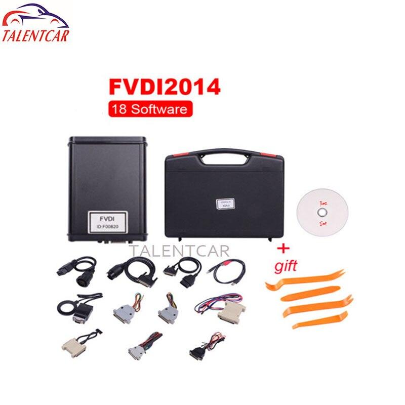 Top Qualité Fvdi Abrites Commandant avec 18 Logiciels AVDI Abrites V2014 Version Complète OBD 2 Scanner De Diagnostic Abrites Fvdi Complet