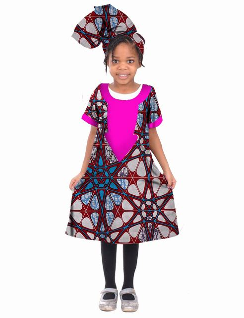World Apparel African Clothing African gril Dashiki Femme Dress Princess Print cotton Dress Brand 2017 New Fashion BRW WYT04