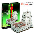 candice guo! 3D puzzle toy CubicFun paper model jigsaw game DIY toy belem tower C711h 1pc
