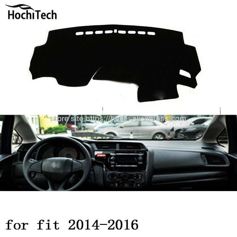 for honda fit 2004-2016 dashboard mat Protective pad Shade Cushion Photophobism Pad car styling accessories