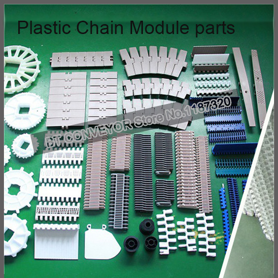 Plastic Chain Plate, Module Conveyor Belt, Plastic Driving Pulley 20 series 1 meter plastic conveyor chain