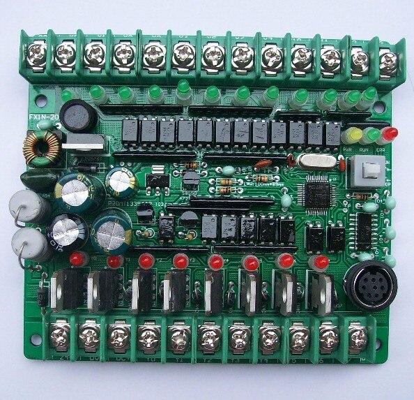 2pcs/lot PLC industrial control board MCU control panel programmable controller electromagnetic valve contactor drive FX1N 20MT
