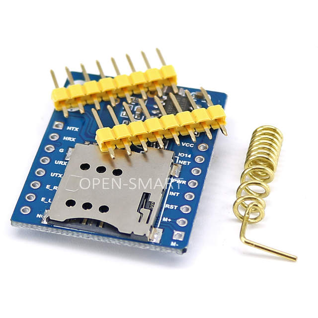 GPRS A6 Mini Serial GPRS GSM Module Core Developemnt Board for Voice Call  Send and Receive SMS System with UART port for Arduino
