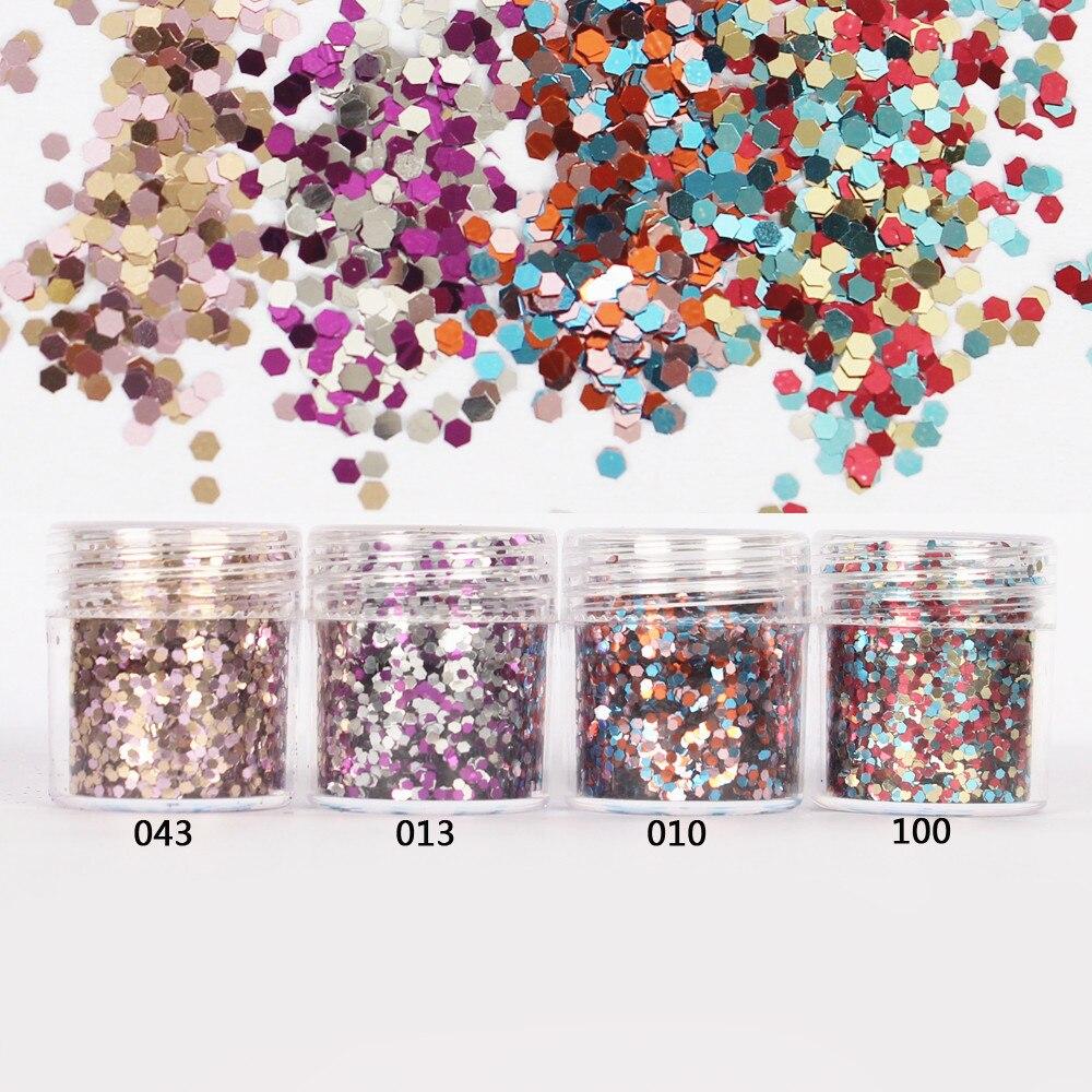 1 Glas/box 10 Ml Nagel Rosa Rose Mix Farbe Nagel Glitter Hex Pailletten Pulver Papier Für Nail Art Dekoration Optional 300 Farben 4-71 Heller Glanz Schönheit & Gesundheit