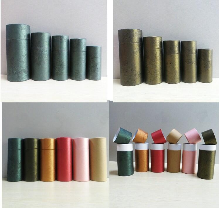50ml oil bottle packaging kraft Paper cans cylinder ...