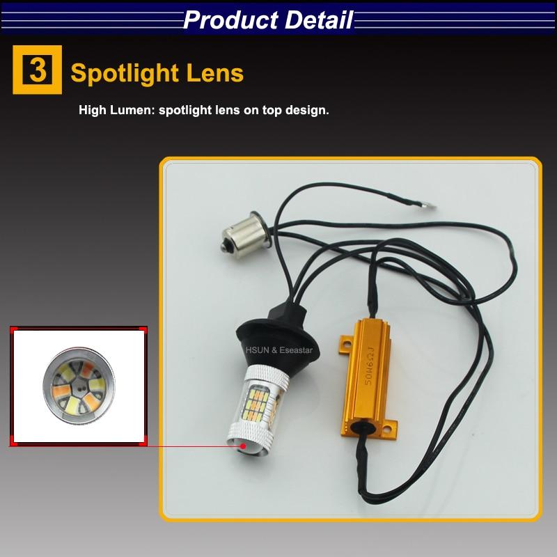Eseastar 2pcs BA15S 7440 3156 S25 Yüksək Güclü LED Avtomobil - Avtomobil işıqları - Fotoqrafiya 4