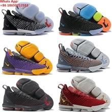 9c31fb1467e LeBron 16 16 s XVI GS James basketbol ayakkabıları Sneakers Gri Kral I Söz  Oreo Thru