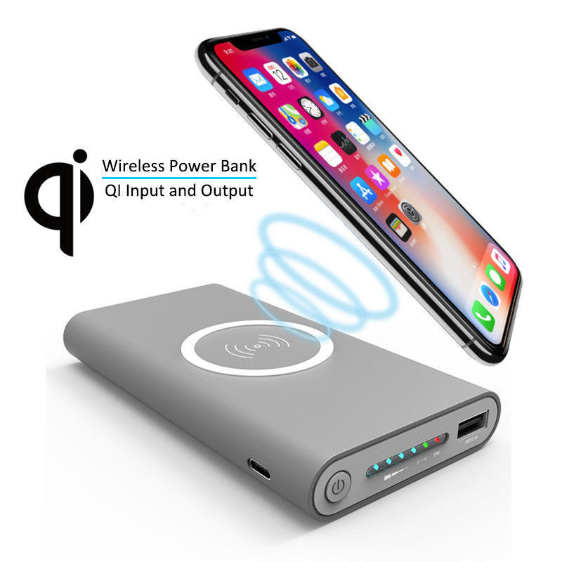 Qi Wireless Charger Power Bank 10000mAh For iPhone Samsung Mobile Phone Devices Portable Powerbank Mobile Phone Charger